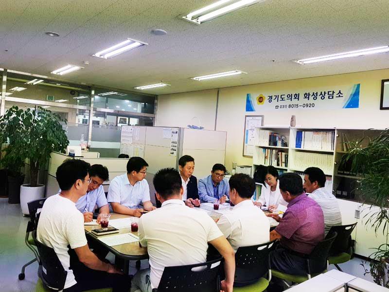 김인순의원,화성상담소에서 서해복선철도..
