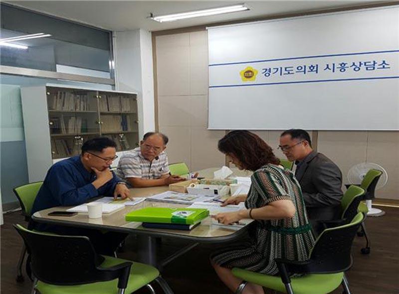 안광률의원,시흥상담소에서 학교현안사항..