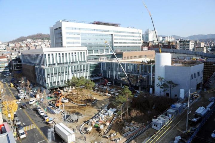 성남시립의료원 건설현장 모습 2018년 11월 20일