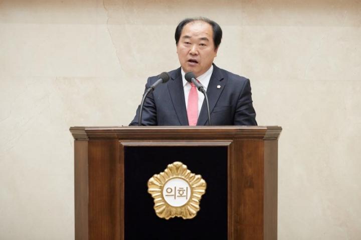 용인시의회 김운봉 의원, 5분 자유발..