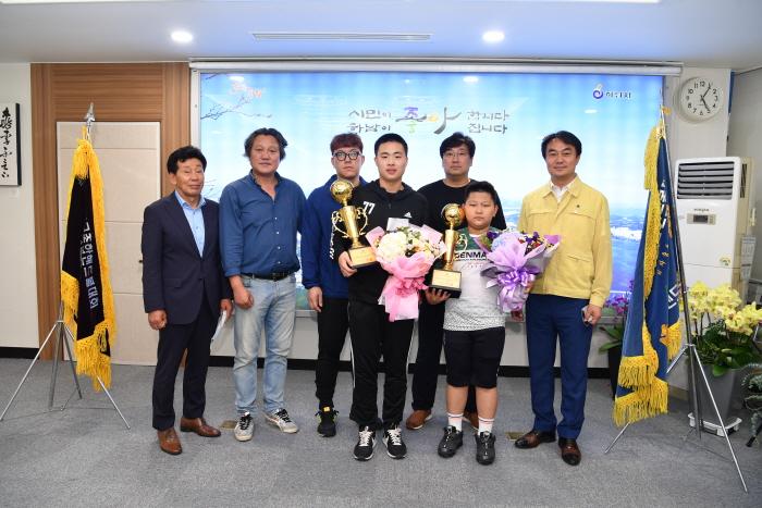 하남시, 태백산기 전국종합핸드볼 대회 우승 선수단 격려