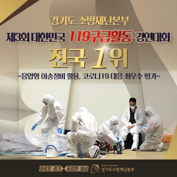 경기도소방, 대한민국 119구급활동 경연대회서 전국 1위