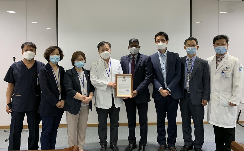 주한스리랑카대사관, 경기도에 외국인노동자 의료지원 감사서한