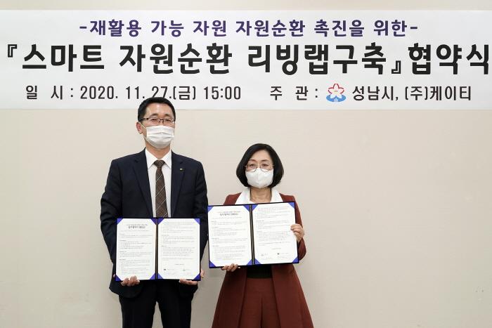 성남시-㈜케이티 '스마트 자원순환 리빙랩 구축..