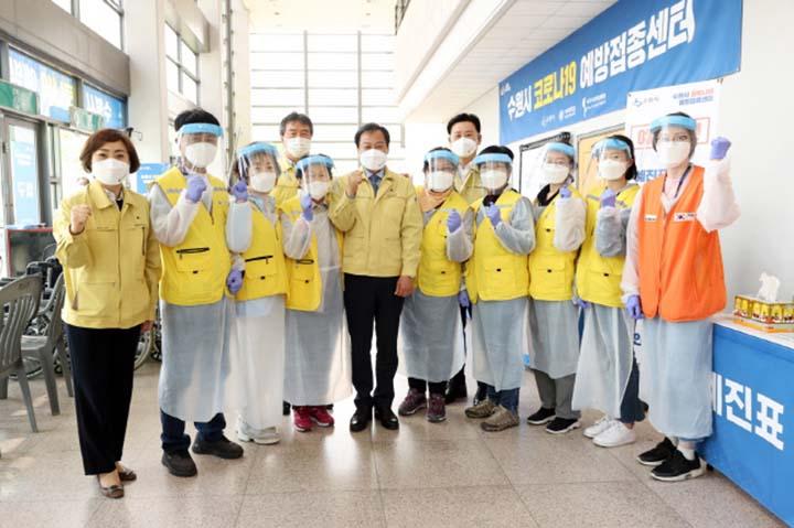 장현국 의장, 6일 코로나19 백신 접종현장 ..