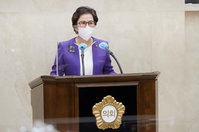 용인시의회 박남숙 의원, 5분 자유발언